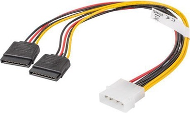 Lanberg 1 x Molex Male to 2 x SATA Female 30cm CA-HDSA-11CU-0030