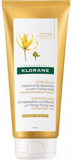 Matu kondicionieris Klorane Ylang-ylang Sun Radiance Rich Restorative Conditioner, 200 ml