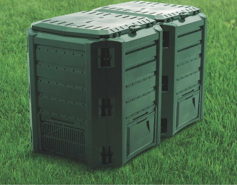 Prosperplast Composter Compogreen Module 2-Sections 800L IKSM800Z-G851 Green 3369886