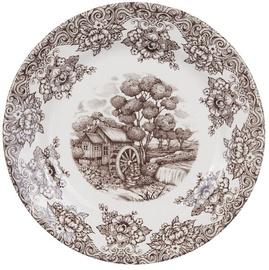 Claytan Water Wheel Dinner Plate 26cm Brown