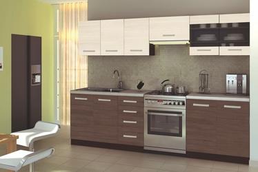 Virtuvinių spintelių komplektas Amanda 2 260, ruda