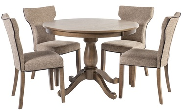 Home4you Dining Table Set Manor Oak/Light Grey