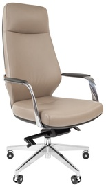 Chairman 920 Leather Light Grey/Dark Grey