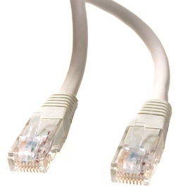 Maclean Cat. 5e RJ-45 To RJ -45 Cable Gray 10m