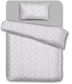 Gultas veļas komplekts AmeliaHome Madera, balta/pelēka, 135x200/80x80 cm
