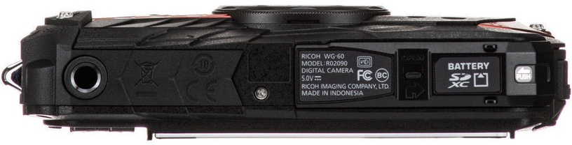 Seikluskaamera Ricoh WG-60 Red with Battery/Cover/Wrist Band