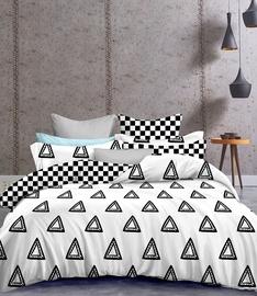 Gultas veļas komplekts DecoKing Hypnosis, balta/melna, 200x220/80x80 cm