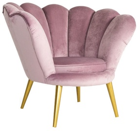 Signal Meble Magnolia Velvet Armchair Pink/Gold