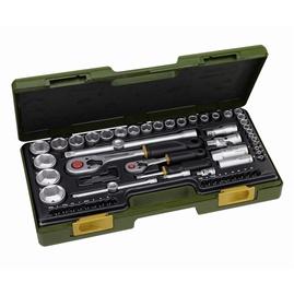 """Sukimo įrankių rinkinys Proxxon 23286, 1/4"""" + 1/2"""", 4-34 mm, 65 vnt."""