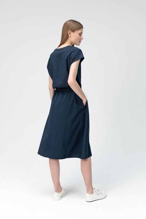 Audimas Shirt Style Dress Navy Blue M