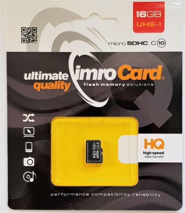 Mälukaart IMRO 10 8GB MicroSDHC Class 10 UHS-I