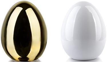 Mondex Lila Egg Ceramic Figure Gold/White 9x13cm