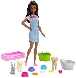 Mattel Barbie Play N Wash Pets Doll And Playset FXH12
