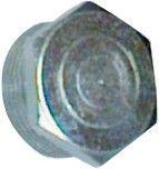 "Raccorfer Steel Cap with External Thread Zinc 1 1/2"""