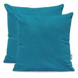 DecoKing Amber Pillowcase 80x80 Blue Sapphire 2pcs
