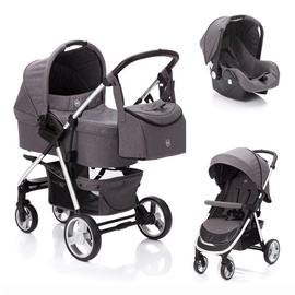 Universalus vežimėlis Fillikid Lion 3in1 Dark Grey
