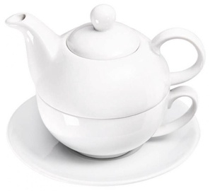 Stalgast Tea Pot With Cup/Saucer 350ml