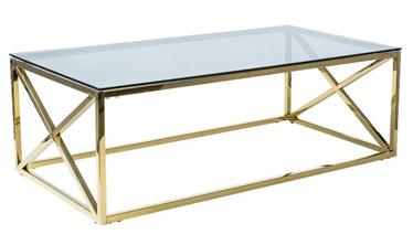 Kafijas galdiņš Signal Meble Elise A Gold, 1200x600x400 mm