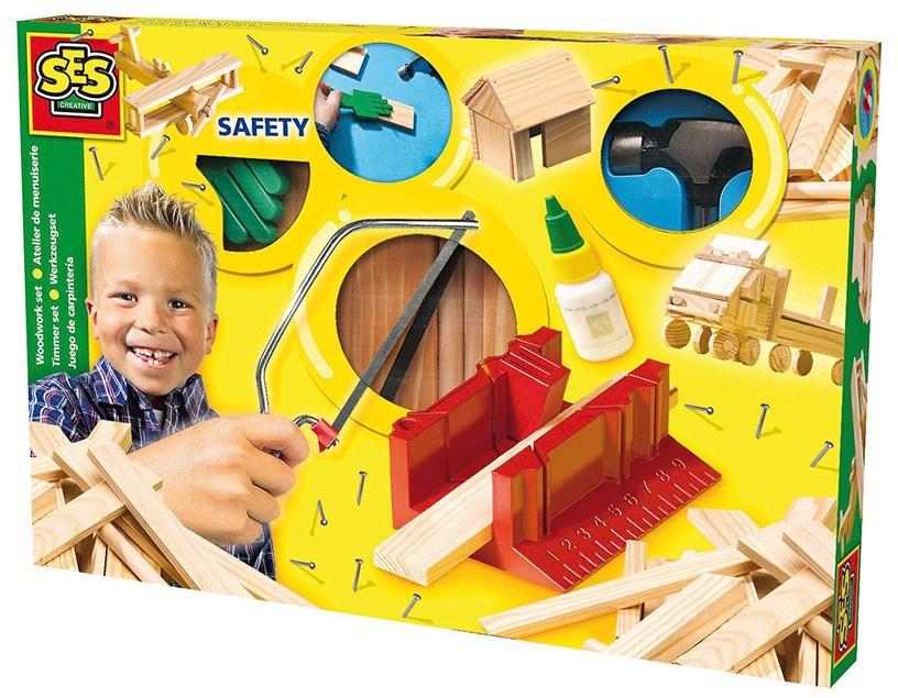 SES Creative Children's Woodwork Set De Luxe 00944