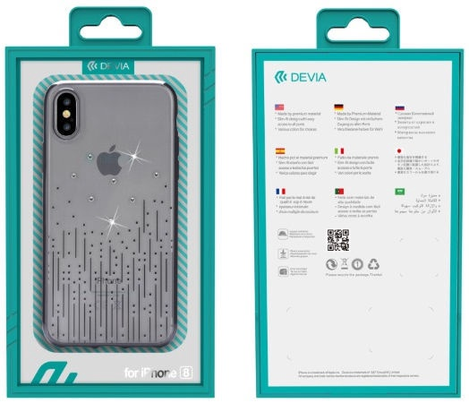 Devia Joyous Luxury Back Case For Apple iPhone X/XS Black