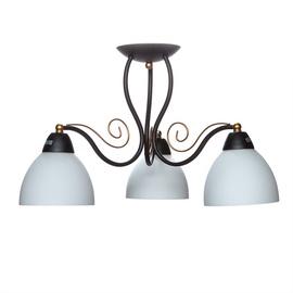 Domoletti Miranda MX11007/3 Ceiling Light 3x60W E27 White/Black