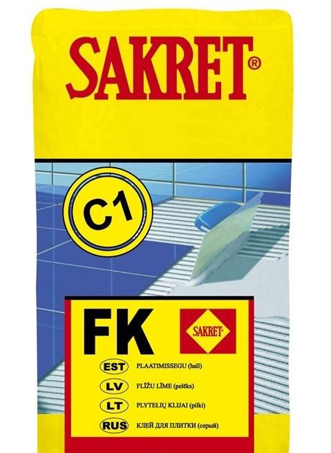 Līme flīžu Sakret FK C1, 25 kg