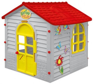Mochtoys Garden House Grey/Red 11156