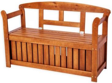 Suoliukas Folkland Timber Friiz Box 125, rudas, 125x45x80 cm