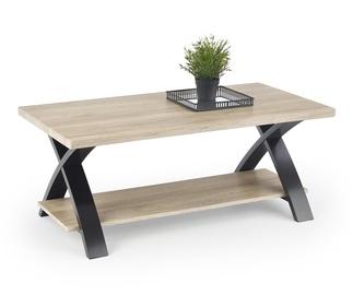 Kohvilaud Halmar Scala San Remo Oak/Black, 1100x550x450 mm
