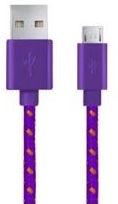 Esperanza Braided Cable USB / USB-micro Purple 1m