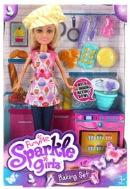 Sparkle Girlz Funvile Doll With Baking Set 24757