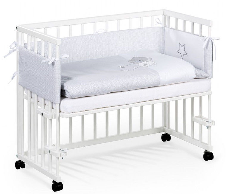 Klups Piccolo Due Bed-Side Cot White