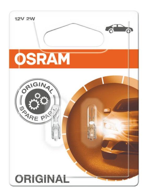 Автомобильная лампочка Osram 2W 12V W2 x 4.6D 2722-02B