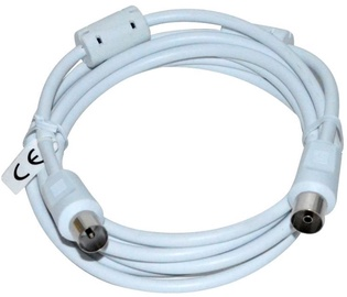 Vakoss Coaxial Cable Coax to Coax White 2 m
