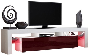 TV staliukas Pro Meble Milano 200 White/Red, 2000x350x450 mm