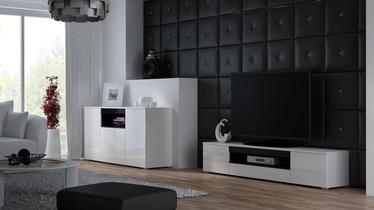ТВ стол Cama Meble Viva 180, черный, 1800x400x374 мм