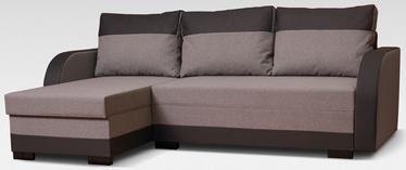 Stūra dīvāns Platan Emil Brown, 230 x 140 x 80 cm