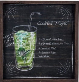 Home4you Print Picture 40x40cm Cocktail Mojito