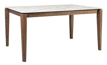 Home4you Salute Dining Table Marble/Walnut