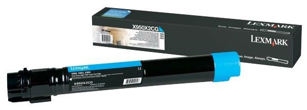 Lazerinio spausdintuvo kasetė Lexmark X950X2CG Cyan