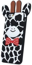 Forcell Soft 3D Back Case For LG K10 Black Giraffe