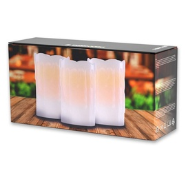 DecoKing Dripwax LED Candle Set 12.5cm 3pcs