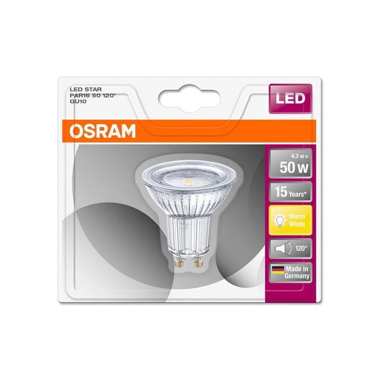 LED LAMP PAR16 4.3W GU10 827 120D 350LM