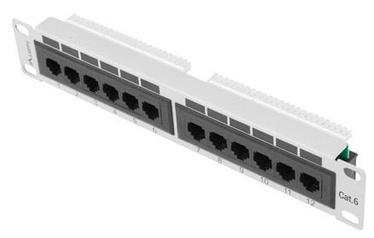 Lanberg PPU6-9012-S 12 Port Panel