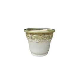 TDS Ceramic Flower Pot 29x24cm Green