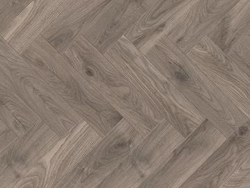 """Laminuotos medienos plaušų grindys X-WAY K287, 628 x 157 x 10 mm, """"eglutės"""" raštas"""