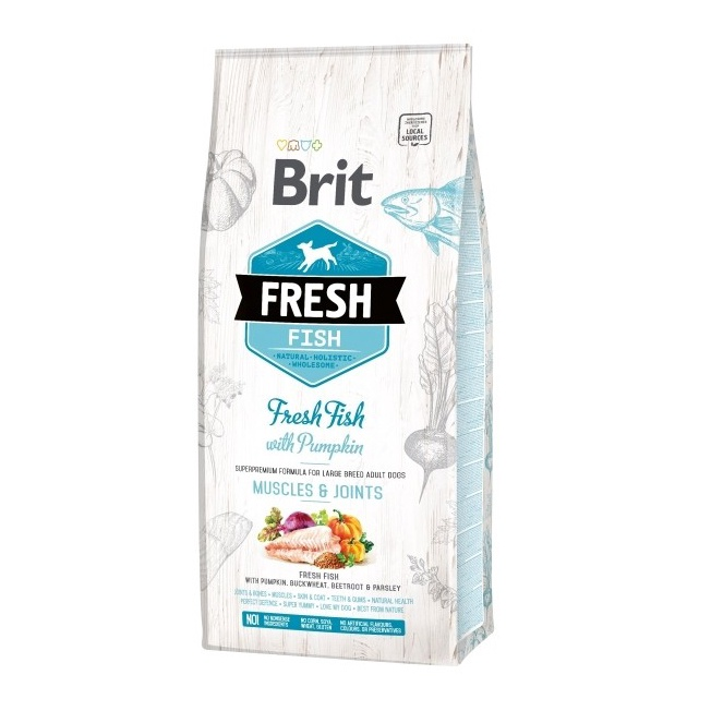 Sausas ėdalas šunims Brit Fresh Fish Adult, 2.5kg