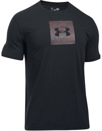 Under Armour T-Shirt Camo Boxed Logo 1297954-002 Black XS