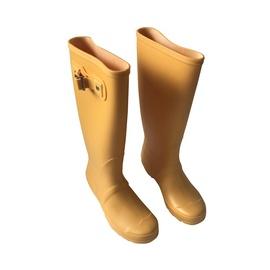 Moteriški guminiai batai, su aulu, geltoni, 39 dydis
