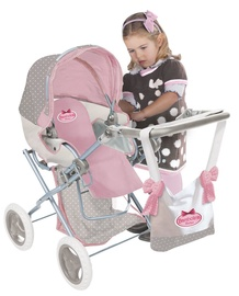 Dimian Bambolina Boutique Doll Pram Medium With Handbag BD1608